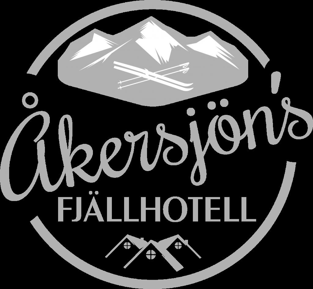Åkersjöns Fjällhotell logo grå