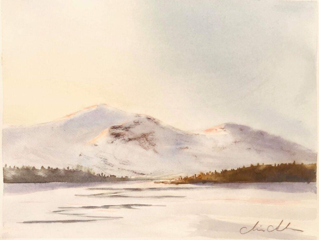 Marie Andersson, Akvarellkurs hos Åkersjöns Fjällhotell
